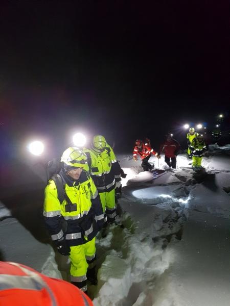 ricerca notturna neve